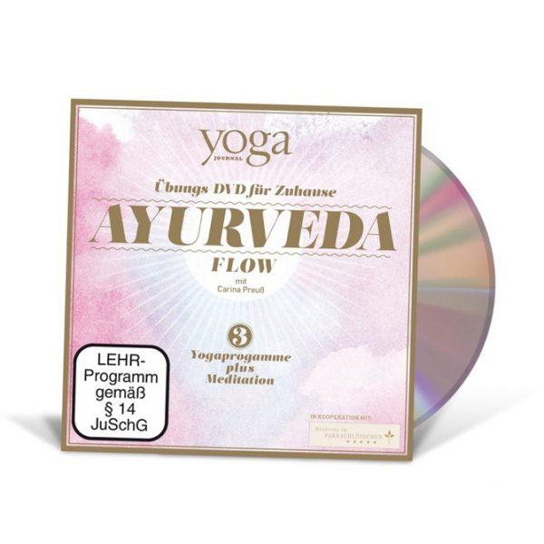 """Yoga DVD """"Ayurveda Flow"""" mit Carina Preuß im Ayurveda Parkschlösschen Onlineshop"""