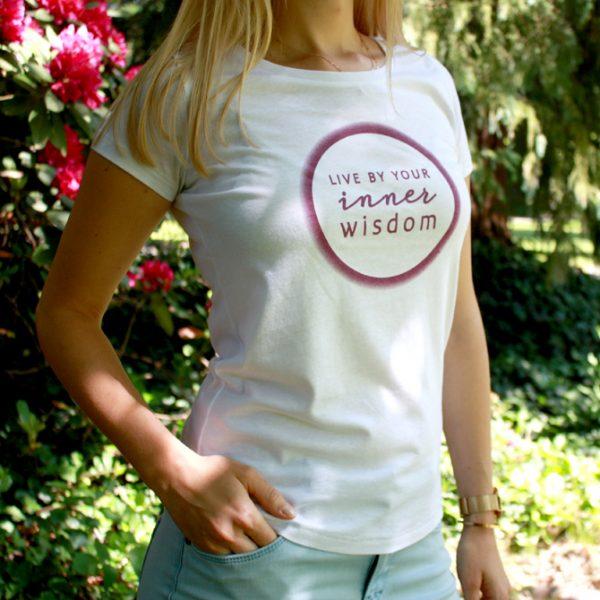 Live by your inner wisdom Damenshirt im Ayurveda Parkschlösschen Onlineshop
