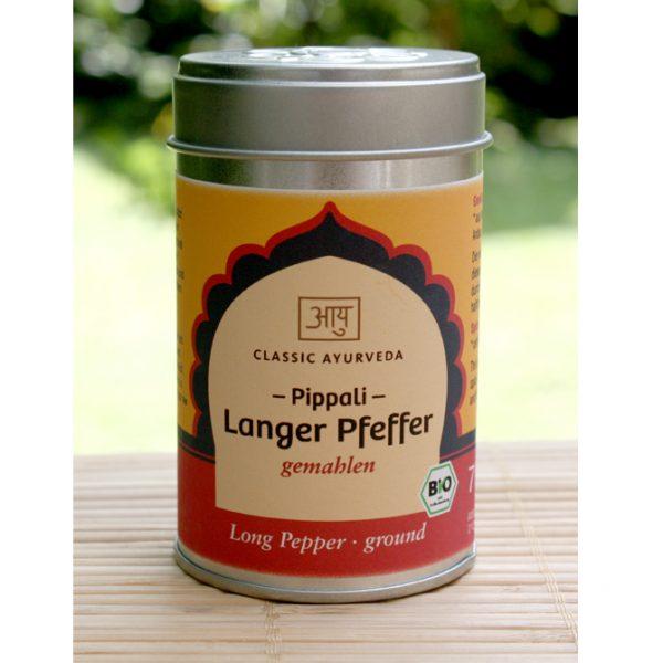 Gemahlener Pippali (Langer Pfeffer) im Ayurveda Parkschlösschen Onlineshop
