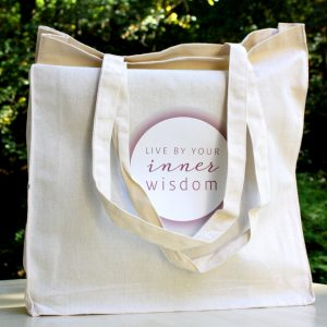LIVE BY YOUR INNER WISDOM Cotton Bag | Ayurveda Parkschlösschen Onlineshop