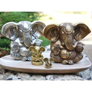 Ganesha Statuen aus Messing | Ayurveda Parkschlösschen Onlineshop