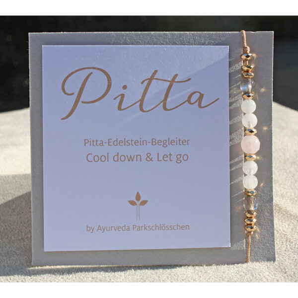 Pitta Dosha Armband | Edelstein Armkettchen Pitta | Ayurveda Parkschlösschen Onlineshop